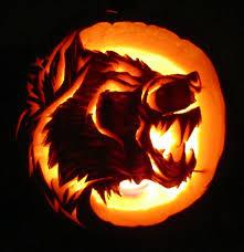 Werewolf Halloween Decorations by Pumpkin Carving Werewolf Oct 2013 Wolf Hogen Designs