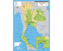 map of thailand maps of thailand detailed map of thailand in tourist