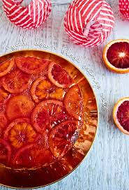 the spectacular upside down blood orange cake recipe beautiful