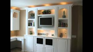 White Entertainment Center For Bedroom Built In White Entertainment Center Cabinets And Wall Units Youtube