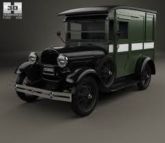 Ford Old Truck Models - ford model a pickup closed cab 1928 3d model hum3d