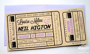ticket wedding invitations ticket wedding invitations wedfest