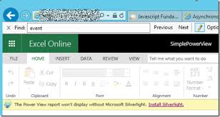 Microsoft Silver Light Silverlight May Be Blocked By Recent Ie Update Affected Power View