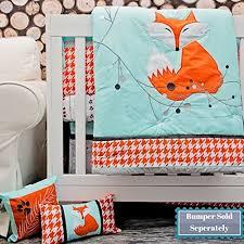 Orange Crib Bedding Dk Leigh Fox Houndstooth 5 Crib Bedding Set Grey Orange Mint
