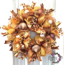 how to make a deco mesh curly loop wreath christmas gold bronze