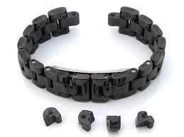 black strap bracelet images Emporio armani ceramica watch strap ceramic bracelet black white jpg