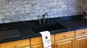 black countertop with black sink best kitchen island countertop ideas design and decor image of
