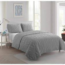 Grey Quilted Comforter Beach Bedding Ebay