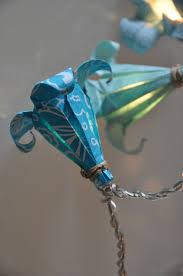 guirlande lumineuse papier japonais nouveau kit fleurs de lys bleu turquoise guirlandes u0026 origami