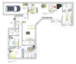 plan maison plain pied en l 4 chambres plan maison plain pied 4 chambres 130 m2 garage of