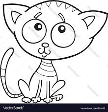 cute kitten for coloring book royalty free vector image