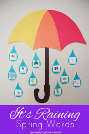it u0027s raining spring words great idea for a spring word wall or