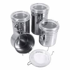 kitchen canisters stainless steel stainless steel home kitchen canisters coffee sugar tea jars