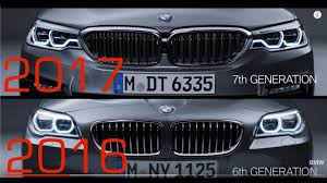 bmw 5 series dashboard 2017 bmw 5 series vs 2016 bmw 5 series detailed comparison youtube