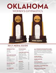 women u0027s gymnastics media guide the official site of oklahoma