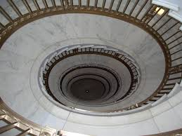 the spiral staircase in the supreme court building closed to the