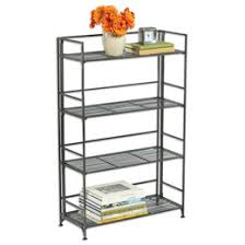 Container Store Shelves by 4 Shelf Iron Folding Bookshelf Container Store Shelves And Iron