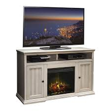 shop legends furniture 58 75 in w antique white wood electric