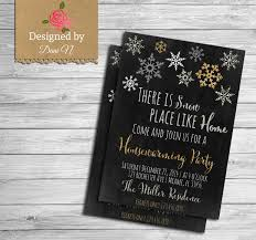 holiday housewarming invitation winter new house party home