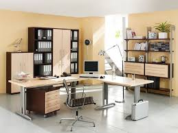 Elegant And Smart Looking Home Office Design For Large Spaces With - Custom home office design ideas