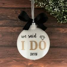 personalized wedding christmas ornaments our christmas ornament married just married ornament