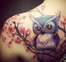 cute owl tattoo designs