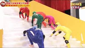 funny japanese game show slippery stairs just hilarious youtube