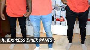 biker pants men u0027s aliexpress haul biker jeans u0026 biker joggers dyrandoms
