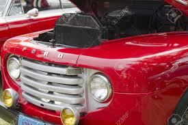 ford truck red waupaca wi august 25 grill of 1950 ford f1 red pickup truck