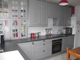 cuisine peinte en gris agréable cuisine repeinte en noir 10 indogate papier peint