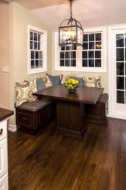 kitchen table round corner with bench wood wrought iron 2 seats