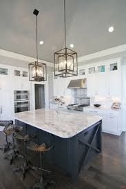 Kitchen Lighting Pictures by White U0026 Marble Kitchen With Grey Island House U0026 Home Pinterest