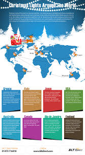 Homes Around The World by Christmas Lights Around The World Infographic