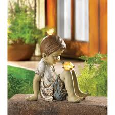 friends solar lighted garden statue statues