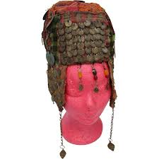 wedding headdress antique ottoman woven wedding headdress with coins from vianova on
