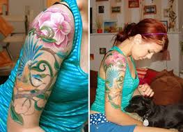 design of tattoo girly sleeve tattoos