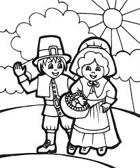 thanksgiving pilgrims coloring pages getcoloringpages