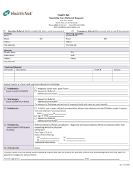 health referral form 2 free templates in pdf word excel download