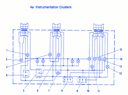 fiat x1 9 1988 instrument electrical circuit wiring diagram