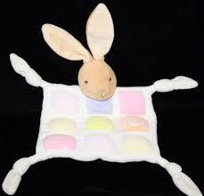 Baby Blanket Comforter Kaloo Bunny Rabbit Comforter Knotted Corners Baby Security Blanket
