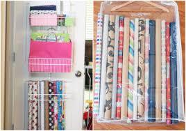 Organize Gift Wrap - gift wrap storage ideas storage decorations