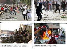 Vancouver Riot Kiss Meme - when us canadians protest funny