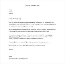 volunteer report template volunteer thank you letter 10 free sle exle format