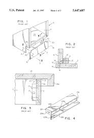 patent us5647687 toe kick end cap for cabinets google patents
