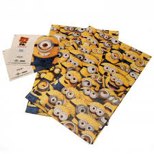 minion gift wrap despicable me minions gift bags official merchandise 2017 18
