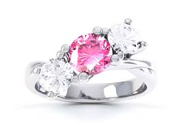 Pink Diamond Wedding Rings by Tickled Pink For Diamond Engagement Rings