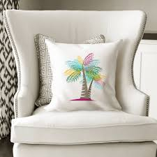 summer home decor ideas palm tree pillowcase beach decor ideas
