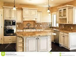 distressed island kitchen travertine countertops distressed white kitchen cabinets lighting
