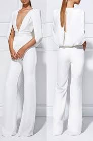Formal Jumpsuits For Wedding Best 25 White Pantsuit Ideas On Pinterest Women U0027s White