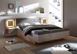 Bettbank Schlafzimmer Capri Xl Bett Mit Fußbank Wildeiche Nachbildung Basalt Möbel